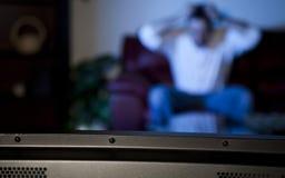 προσοχή TV ατόμων Στοκ Εικόνα