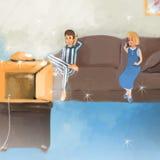 προσοχή TV απεικόνιση αποθεμάτων