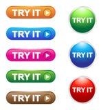 Προσπαθήστε αυτό κουμπώνει Στοκ Φωτογραφίες