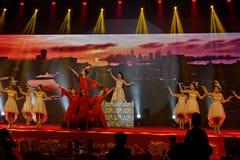 Προσπαθώντας αποδόσεις Κίνα-τραγουδιού και χορού Στοκ Εικόνες