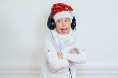 Προσποίηση αγοριών είναι ένα κακό Santa Στοκ Φωτογραφίες