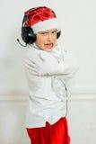 Προσποίηση αγοριών είναι ένα κακό Santa Στοκ εικόνα με δικαίωμα ελεύθερης χρήσης