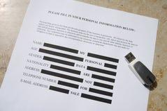 Προστασία δεδομένων, μυστικότητα: Τα στοιχεία μου δεν είναι για την πώληση Στοκ Φωτογραφία