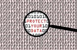 Προστασία δεδομένων διανυσματική απεικόνιση