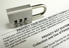 Προστασία κοινωνικής ασφάλισης Στοκ φωτογραφίες με δικαίωμα ελεύθερης χρήσης