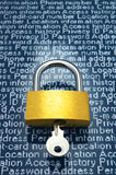 Προστασία της προσωπικής πληροφορίας Στοκ Εικόνες