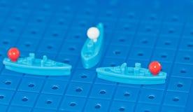 Προστασία των θαλάσσιων στρατιωτικών σκαφών παιχνιδιών συνόρων Στοκ εικόνες με δικαίωμα ελεύθερης χρήσης