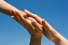 προστασία χεριών Στοκ Εικόνες