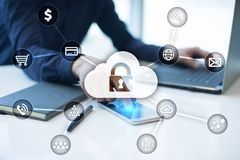 Προστασία Cyber, προστασία δεδομένων, ασφάλεια πληροφοριών και κρυπτογράφηση τεχνολογία Διαδικτύου και επιχειρησιακή έννοια στοκ φωτογραφίες με δικαίωμα ελεύθερης χρήσης