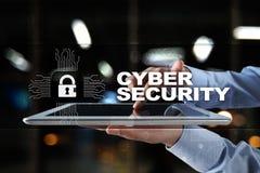 Προστασία Cyber, προστασία δεδομένων, ασφάλεια πληροφοριών και κρυπτογράφηση τεχνολογία Διαδικτύου και επιχειρησιακή έννοια στοκ εικόνα με δικαίωμα ελεύθερης χρήσης