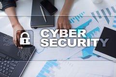 Προστασία Cyber, προστασία δεδομένων, ασφάλεια πληροφοριών και κρυπτογράφηση στοκ εικόνες