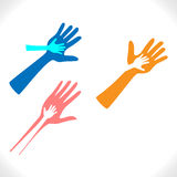 Προστατευτικά χέρια Στοκ Φωτογραφίες