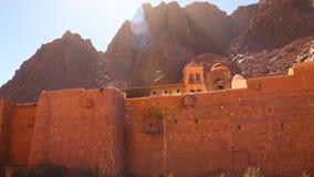 Προστατευτικός τοίχος στο μοναστήρι του ST Catherine απόθεμα βίντεο