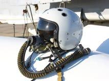 Προστατευτικό κράνος του πιλότου Στοκ Φωτογραφία