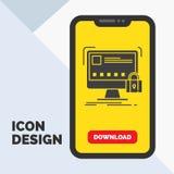 προστατεύστε, προστασία, κλειδαριά, ασφάλεια, ασφαλές εικονίδιο Glyph σε κινητό για Download τη σελίδα r ελεύθερη απεικόνιση δικαιώματος