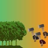 Προστατεύστε τα δάση απεικόνιση αποθεμάτων