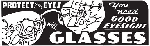 Προστατεύστε τα μάτια σας με τα γυαλιά ελεύθερη απεικόνιση δικαιώματος