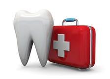 Προστατεύστε την έννοια δοντιών σας - τρισδιάστατη διανυσματική απεικόνιση