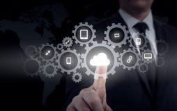 Προστατεύστε την έννοια στοιχείων πληροφοριών σύννεφων Προστασία και ασφάλεια των στοιχείων σύννεφων στοκ εικόνα