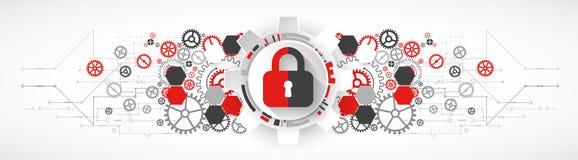 Προστατεύστε το μηχανισμό, ιδιωτικότητα συστημάτων ελεύθερη απεικόνιση δικαιώματος