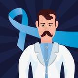 Προστατική ημέρα καρκίνου Movember απεικόνιση αποθεμάτων