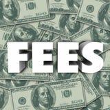 Προστιθέμενη τιμή κόστους υποβάθρου χρημάτων του Word αμοιβών ποινική ρήτρα Στοκ φωτογραφία με δικαίωμα ελεύθερης χρήσης