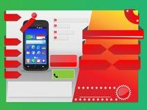 Προσφορά Χριστουγέννων ιπτάμενων κυττάρων Infographic Στοκ φωτογραφίες με δικαίωμα ελεύθερης χρήσης