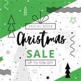 Προσφορά Χριστουγέννων Dicsount μέχρι 50 τοις εκατό μακριά διανυσματική απεικόνιση