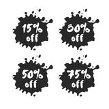Προσφορές έκπτωσης τοις εκατό καθορισμένες Στοκ εικόνα με δικαίωμα ελεύθερης χρήσης