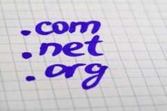προσφώνηση Διαδίκτυο Στοκ εικόνα με δικαίωμα ελεύθερης χρήσης