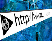 Προσφώνηση Διαδικτύου Στοκ φωτογραφία με δικαίωμα ελεύθερης χρήσης