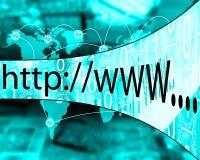 Προσφώνηση Διαδικτύου Στοκ εικόνα με δικαίωμα ελεύθερης χρήσης