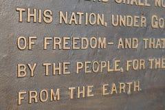 προσφώνηση gettysburg στοκ φωτογραφία