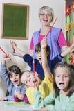 Προσχολικά κατσίκια Στοκ εικόνες με δικαίωμα ελεύθερης χρήσης