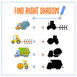 Προσχολικό παιχνίδι με τα οχήματα και τις σκιές Στοκ Φωτογραφία