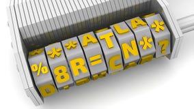 Προσωπικά στοιχεία Κώδικας σε ένα λουκέτο συνδυασμού απεικόνιση αποθεμάτων