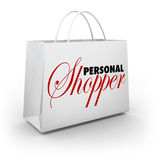 Προσωπική αγοραστών μόδας τσάντα αγορών υπηρεσιών ύφους βοηθητική ελεύθερη απεικόνιση δικαιώματος