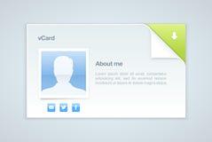 προσωπική διανυσματική επίσκεψη πληροφοριών απεικόνισης καρτών Στοκ εικόνες με δικαίωμα ελεύθερης χρήσης