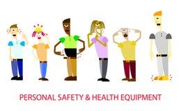 Προσωπικός εξοπλισμός Ασφαλείας και Υγεία απεικόνιση αποθεμάτων