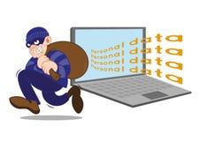 Προσωπικός κλέφτης Δανών ciber απεικόνιση αποθεμάτων