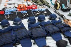 Προσωπικός προστατευτικός εξοπλισμός για τους σωτήρες και τους πυροσβέστες Στοκ Εικόνα
