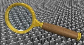 Προσωπικό στρατολόγησης (αναζήτηση) Έννοια ελεύθερη απεικόνιση δικαιώματος