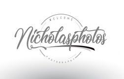 Προσωπικό σχέδιο λογότυπων φωτογραφίας του Nicholas με το όνομα φωτογράφων διανυσματική απεικόνιση