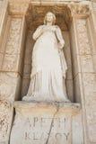 Προσωποποίηση της αρετής, άγαλμα Arete στην αρχαία πόλη Ephesus Στοκ Εικόνες