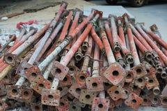 Προσωρινά υλικά σκαλωσιάς για τις οικοδομές Στοκ Φωτογραφία