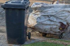 Προσωρινό καροτσάκι που συλλέγει recyclables Στοκ φωτογραφία με δικαίωμα ελεύθερης χρήσης