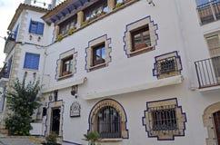 Προσόψεις κτηρίων Sitges, Καταλωνία, Ισπανία στοκ φωτογραφία με δικαίωμα ελεύθερης χρήσης