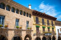Προσόψεις οικοδόμησης Espanyol Poble, Βαρκελώνη, Ισπανία Στοκ εικόνα με δικαίωμα ελεύθερης χρήσης