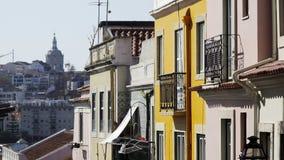 Προσόψεις των παλαιών εκλεκτής ποιότητας κτηρίων απόθεμα βίντεο