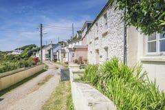Προσόψεις των παράκτιων σπιτιών στην Ουαλία στοκ φωτογραφία με δικαίωμα ελεύθερης χρήσης